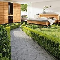 3 D ステレオ植物花グリーンガーデン通路ショッピングモールの床の壁画壁紙通り粘着ステッカー 200cmX140cm