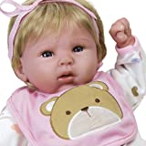 Paradise Galleries Reborn Baby Doll That Looks Real Happy Teddy, 19 inch Girl in GentleTouch Vinyl, Safety Tested for Kids 3+