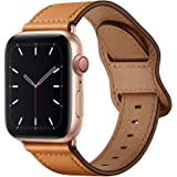 KYISGOS Compatible with iWatch Band 44mm 42mm 40mm 38mm, Genuine Leather Replacement Band Strap Compatible with Apple Watch S