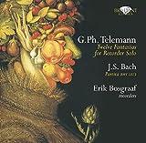 テレマン:12の幻想曲 TWV 40:2-13/J.S.バッハ:パルティータ BWV.1013(G.Ph.Telemann:Twelve Fantasias for Recorder Solo/J.S.Bach:Partita BMW 1013 画像