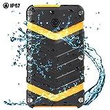 NexGadget 20000mAhモバイルバッテリー 大容量 スマホ急速充電器 2USBポート 自動検知 LEDライト付き iPhone/iPad/Android各種機種対応 防水 防塵 耐衝撃 (ブラック)