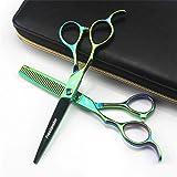 Freelander 6.0 Inch Left-handed Professional Hair Scissors Straight & Thinning Barber Shears Japan 440C Steel for Left-handed