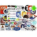 ノートパソコン用デベロッパーステッカー 前方端末と後方言語のプログラミングステッカー ソフトウェア開発者/エンジニア/ハッカー/プログラマー/オタク/コーダー用ステッカー 50枚