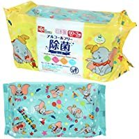 ダンボ ノンアルコール 除菌 ウェットシート 60枚入×3個 (日本製) パラベンフリー