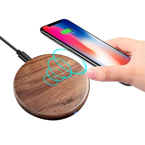 YOGEE Qi ワイヤレス充電器 ウォールナット YG-W-WD