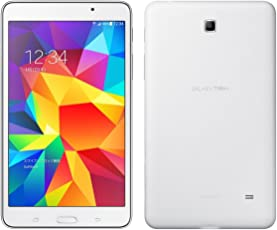 SIM-FREE SAMSUNG GALAXY Tab, With Cellular and WiFi Quad-core 1.2 GHz, Display 7 .0 inches( 800 x 1280 pixels), Android 4. 4. 2 ( Kit-Kat ), DUAL CAMERA, SAMSUNG GALAXY Tab 4 ( White )