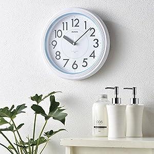 MAG(マグ) 置き時計・掛け時計 ホワイト (約) 高さ27.8×幅.27.8×奥行き4.8cm