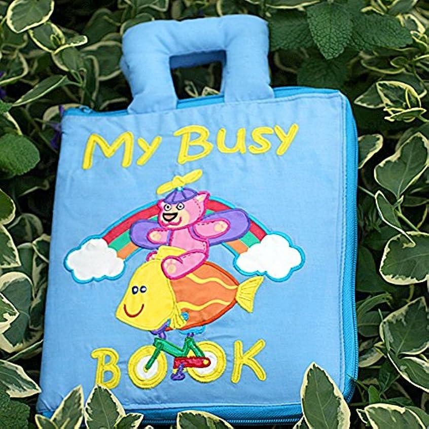 役立つ高原シングル布絵本MY BUSY BOOK NEW ENGLISH VERSIONマイビズィブック英語版<br>知育