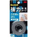 3M スコッチ 強力両面テープ 凸凹面用 12mm×1.5m KH-12