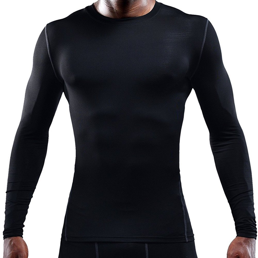 fc91246864c52 LeoSport Men's Functional Compression Sports Innerwear, T - shirt, Abs, Fat  Loss, Posture Support, Sweat Absorbing & Quick Drying, Long Sleeve,  Customizable
