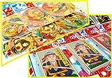 【台紙玩具】 丸・角めんこセット  (丸6枚×12付角10枚×12付各1シート) / お楽しみグッズ(紙風船)付きセット