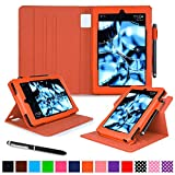 Fire HD 10 Case, roocase Dual View Fire HD 10 PU Leather Folio Case Cover Stand for All-New Amazon Kindle Fire HD 10 Tablet (2015), Purple