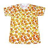 (ノーブランド品)オレンジ みかん フルーツ 果物 原宿系 かわいい メンズTシャツ おもしろTシャツ 半袖 (M) [並行輸入品]