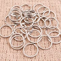 Niome 25PCS Split Keyring 25mm Key Ring Chain Loop Pocket Clasps Connectors Keychain Crafts Accessories