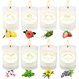 Women Scented Candles ,Yinuo Candle 100% Soy Aromatherapy Candle Sets with 8 Frangrances for Bath Yoga Relaxing Gifts for Bir