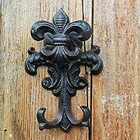 HZB ヨーロッパフック、アンティークアイアン、デュプレックスフック、鋳鉄園芸用品