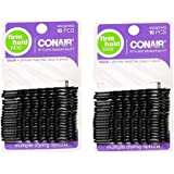 2 Set of 18 Scunci Black Styling EssentialsTM Bobby Pins bundled by Maven Gifts