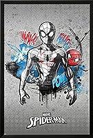 スパイダーマンヴィンテージコンクリート1( Exclusive )印刷とフレームオプション 24x36 in ブラック AP15243574_PC0_FI0_SV0_IN1