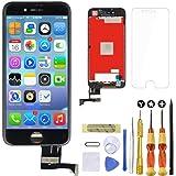 Goldwangwang iPhone 8 4.7インチ フロントパネルタッチパネル 液晶パネルセット iPhone 8の画面取り付け(にのみ適用されます iPhone 8 ブラック)