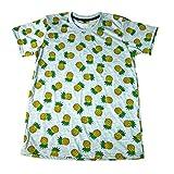 (ノーブランド品)パイナップル フルーツ ドット柄 果物 総柄 原宿系 メンズTシャツ おもしろTシャツ 半袖 [並行輸入品]