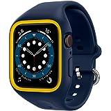 Caseology Apple Watch ケース 40mm TPE バンド一体型 さらさら 耐久性 Series 6 / SE / 5 / 4 ナノ・ポップ (ブルベリー・ネイビー)