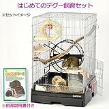 三晃商会 SANKO はじめてのデグー飼育セット 飼い方説明書付き ケージ 回し おもちゃ