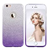 Imikoko iPhone6s ケース iPhone 6s ケース アイホン6ケース キラキラcase 保護 (4.7インチ (Purple 3)