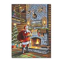 商標FineアートクリスマスEve with Santa by Geno Peoples、14x 19インチ