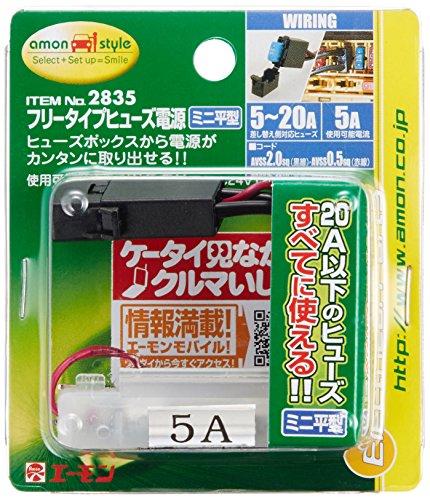 エーモン フリータイプヒューズ電源(ミニ平型) 2835