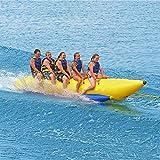 3/5/6人乗りバナナボート1/2列、夏フローティング 水上インフレータブル ビーチ マリン スポーツ 水上おもちゃ エアボートトーイングチューブ