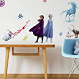 RoomMates - RMK4075SCS Disney Frozen 2 Character Peel and Stick Wall Decals | 21 Wall Stickers | Elsa, Anna, Olaf, Kristoff &