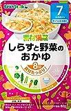 ビーンスタークベビーフード 素材満菜 しらすと野菜のおかゆ 80g(7ヶ月?)【3個セット】