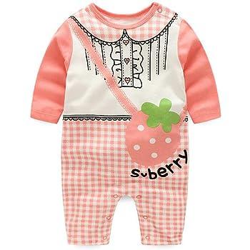 de0ccc5e59aee エルフ ベビー(Fairy Baby)新生児服 春秋用カバーオールロンパース 長袖 可愛いプリント 3M