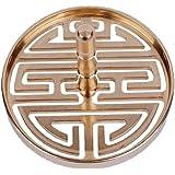 卓上棉品 香篆 香型 6cm 銅製 拓香印香模 打拓香模 香道用具用品 (喜)