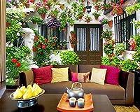 Wapel Beibehang カスタム壁紙専用の小さな庭の壁の家の壁画 3 D 壁紙壁 3 のリビングルームのテレビの背景の壁紙 d 絹の布 300x210CM