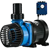 Current USA eFlux DC Flow Pump with Flow Control 1900 GPH | Ultra Quiet, Submerisble or External Installation | Safe for Salt
