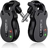 LEKATO ギターワイヤレスシステム 送受信機 ブラック 高品質のチップ ギターに直接プラグ・イン エレキギターアンプ ケーブル不要 エレキギター 送信範囲100M USB充電式 干渉なし 4チャンネル 取扱説明書
