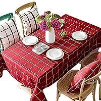 テーブルクロス - ホーム防水チェック柄のテーブルクロスヨーロッパのレストラン長方形のテーブルクロス新年のクリスマスの赤いお祝いのテーブルクロス (サイズ さいず : 140x180cm)