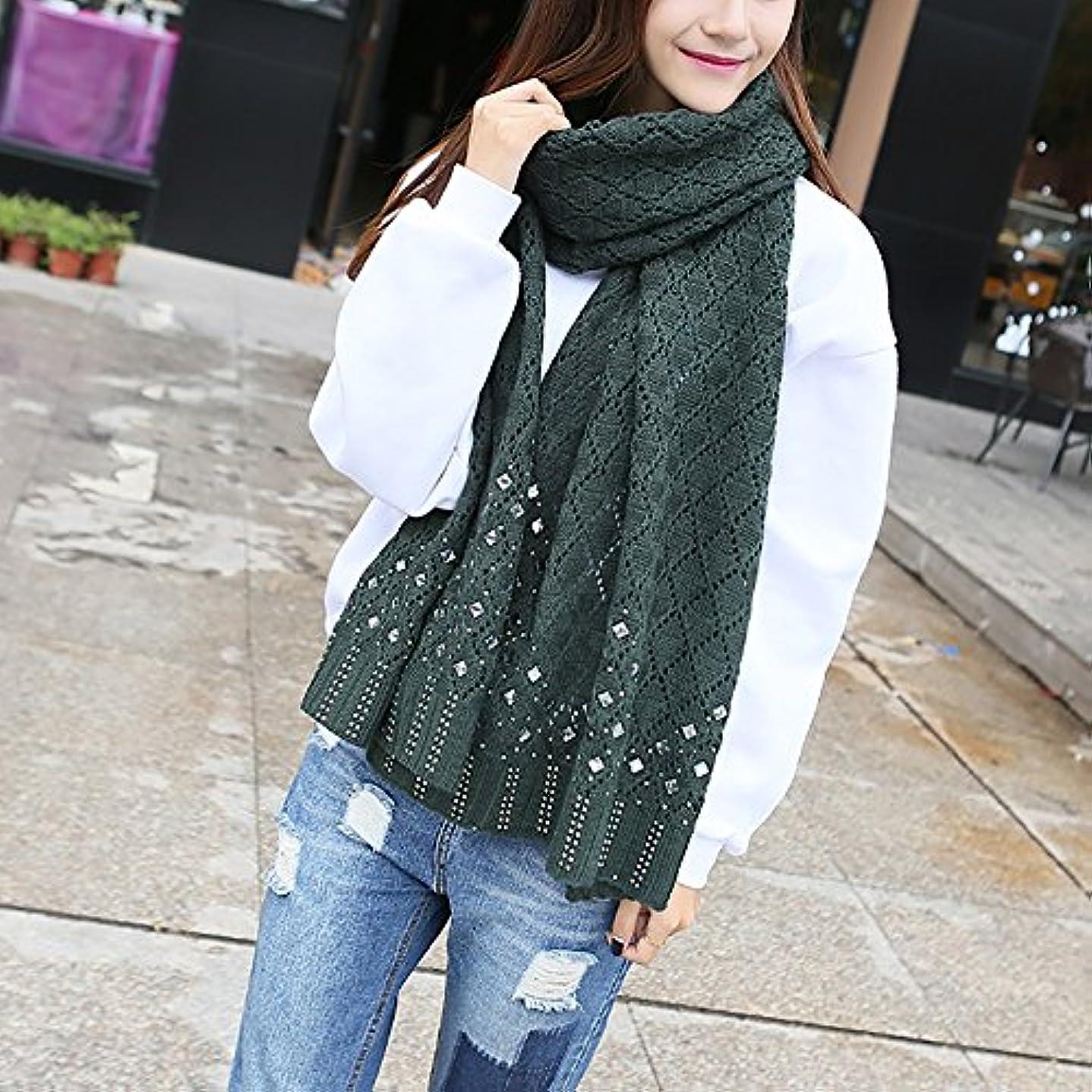 つまらないトレード興味ZZHF 女性の秋と冬のスカーフニット菱形暖かい厚いスカーフショールカップルスカーフ7色が利用可能です(サイズ:210 * 47センチメートル) シルクのスカーフ ( 色 : D , サイズ さいず : 210*47CM )
