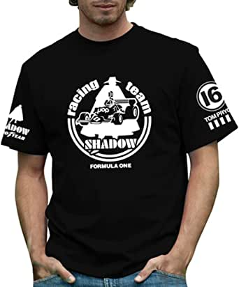 RETRO GP シャドウ・ メンズTシャツ ブラック Shadow Formula 1 Mens T-shirt Black