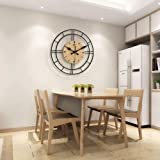 Beautiful Hand-Polished Wall Clock, Modern Wall Clock with Excellent finishes, Noise Resistant for The Living Room in The Hal