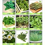 Seed Category:Combi Herb Seeds Lemon Balm, Rosemary, Asparagus, Mint, Cress Common, Lemon Basil, German Chamomille, Wild, Thyme English Winter Herb Seeds Combo Pack