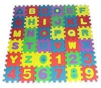 Nice Days(ナイス ディズ) 子ども知育おもちゃ お風呂のおもちゃ アルファベット数字  パズル ブロック 36 PCS