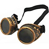 WEICHUAN New Sell Vintage Steampunk Goggles Glasses Cosplay Cyber Punk Gothic(purple bronze)