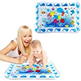 Tummy time Baby Water Play mat for Babies and Toddlers, Inflatable Play mat Toys, Belly Water mats for Baby Sensory Developme