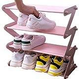 NBEST Simplicity Z-Shaped Shoe Rack- Shoe Storage organiser(Pink)