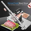 手動凍結肉スライサー 家庭用キッチン 業務用調整可能なステンレススチールビーフマットシートスライシングマシン