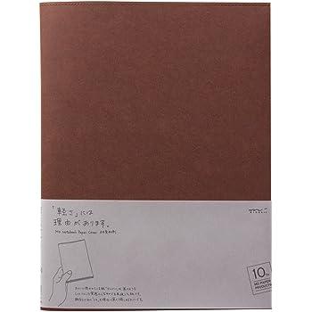 ミドリ ノートカバー  MDノートカバー A4変形判 10th 紙 こげ茶 49867006