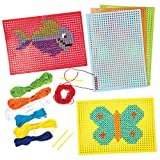 子供用 クロスステッチ カード キット(6個入り)子供のたちの手芸、手作りに