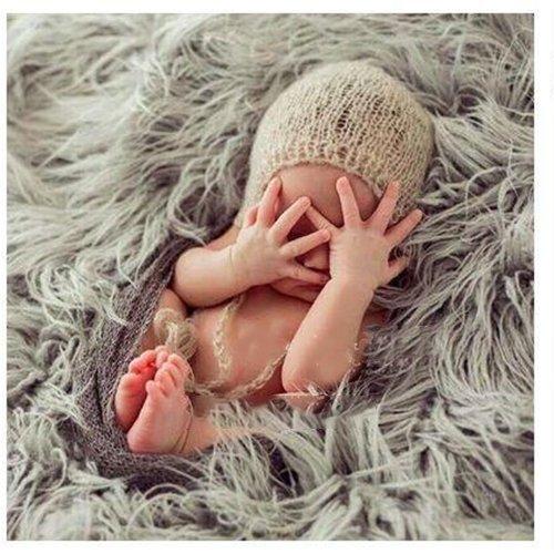 Hanbaili バスケットファブリック、赤ちゃんの子供の子供たちの写真の毛布写真のプロッププロップ...